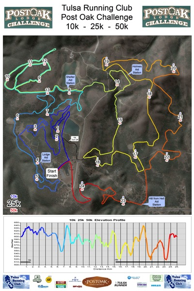 Post Oak Challenge 10K-25K-50K Map