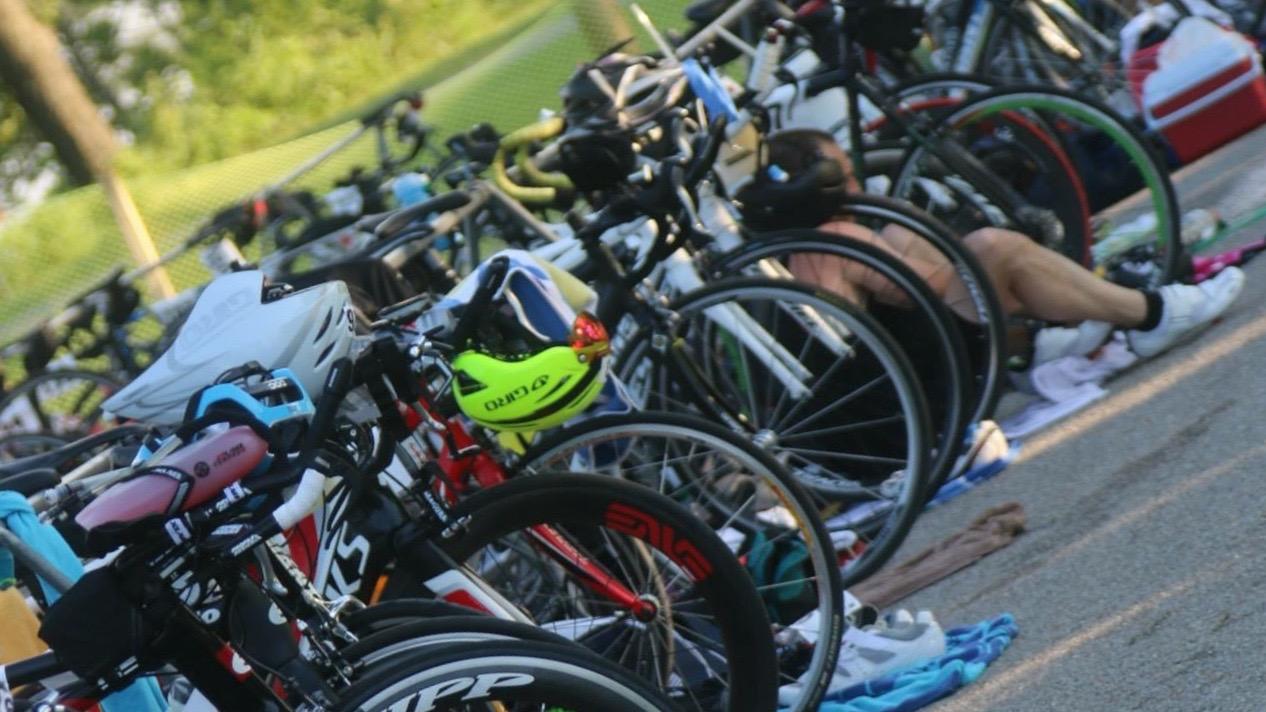 2015 Tulsa Triathlon TAT50 Bike Transition