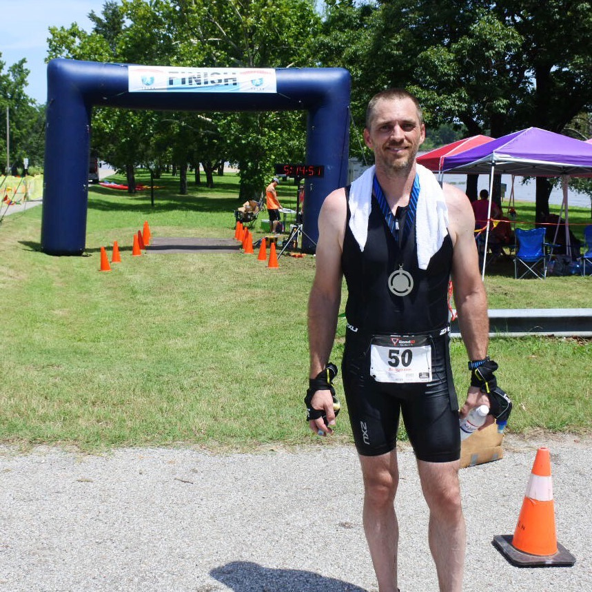 2015 Tulsa Triathlon TAT50 Finish