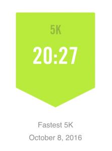 Fastest 5K 20:27